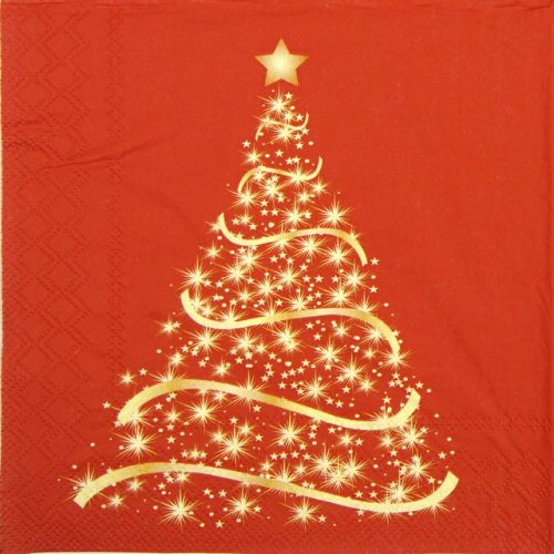 Lunch Napkins (20) - Shining Tree Red