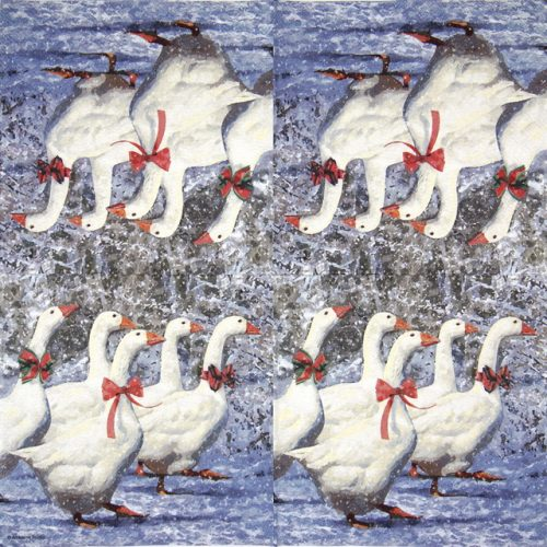 Lunch Napkins (20) - X-Mas Geese