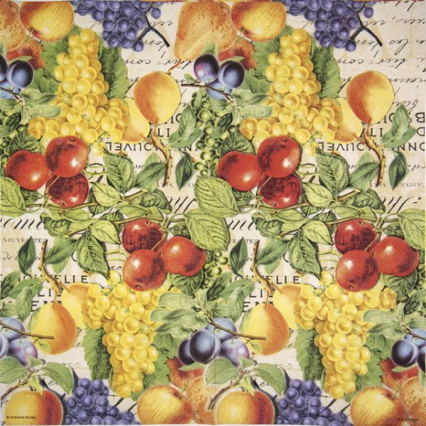 Cocktail Napkins (20) - Autumn Fruits