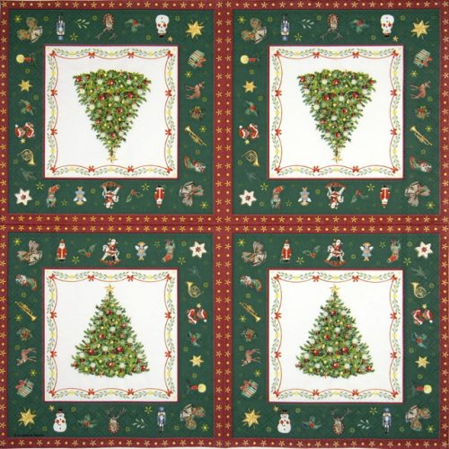 Lunch Napkins (20) - Christmas Evergreen green