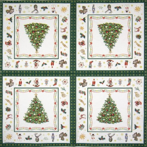 Cocktail Napkins (20) - Christmas Evergreen White