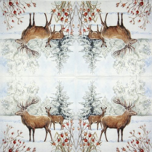 Paper Napkin - Deer in Snow