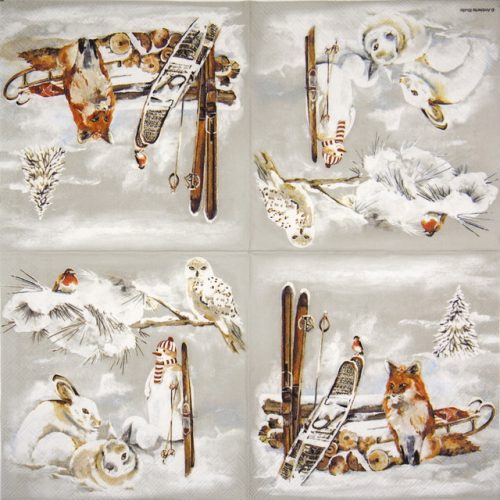 Cocktail Napkins (20) - Fox And Bird