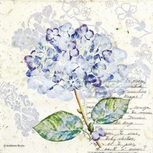 Paper Napkin - Flou d´Hortensia Purple