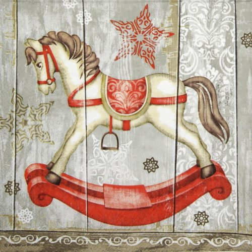 Cocktail Napkin - Rocking Horse
