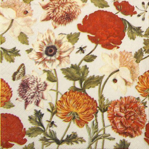 Paper Napkin - Flora Botanica cream