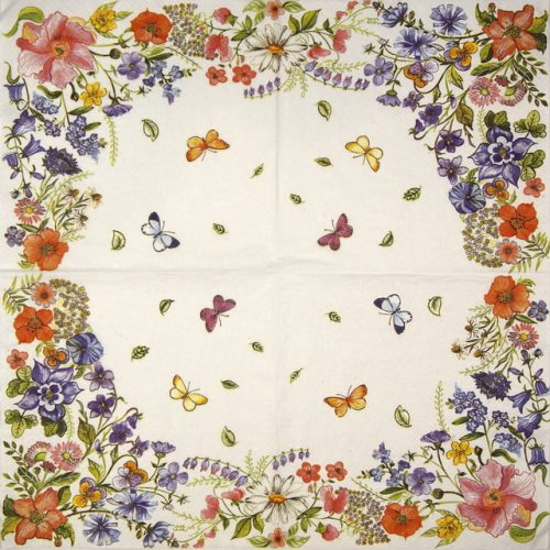 Lunch Napkins (20) - Blossom Border