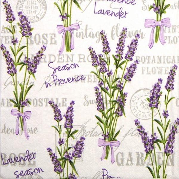 Lunch Napkins (20) - Lavender Season in Provance