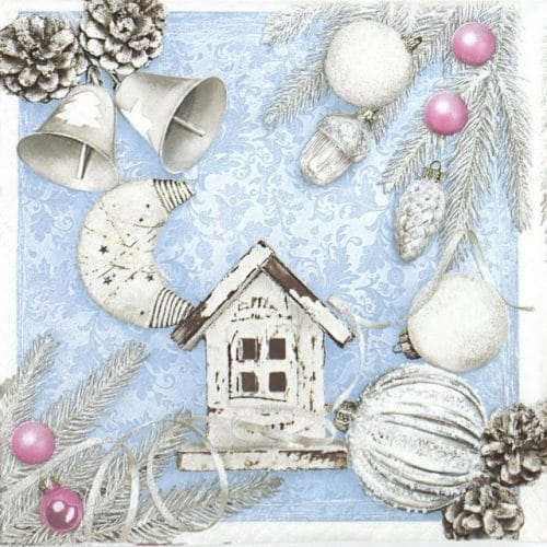 Lunch Napkins (20) - Pastel X-Mas Elements