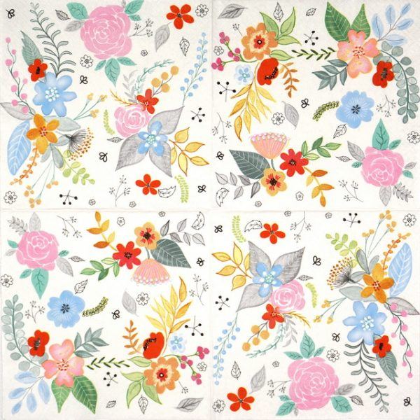 Lunch Napkins (20) - Garden Fantasy