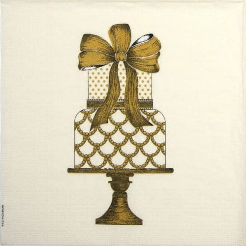 Lunch Napkins (20) - S.E. Hagarman: Gateau d'Or