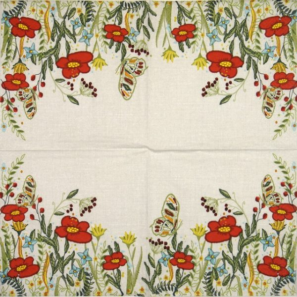 Lunch Napkins (20) - Poppies