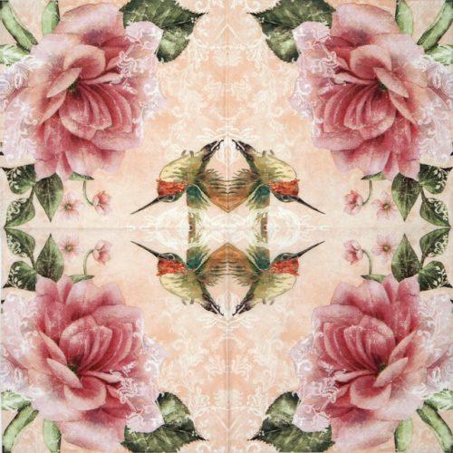 Paper Napkin - Hummingbird Beige