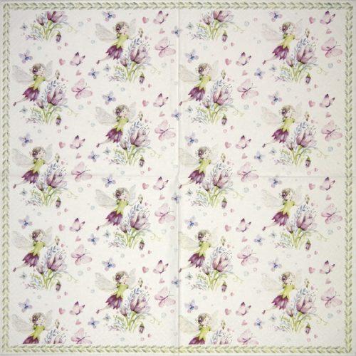 Paper Napkin - Elfes avec Papillons