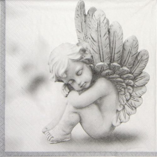 Lunch Napkins (20) - Dreaming Angel grey