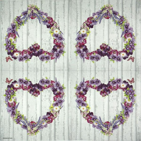 Lunch Napkins (20) - Purple Heart
