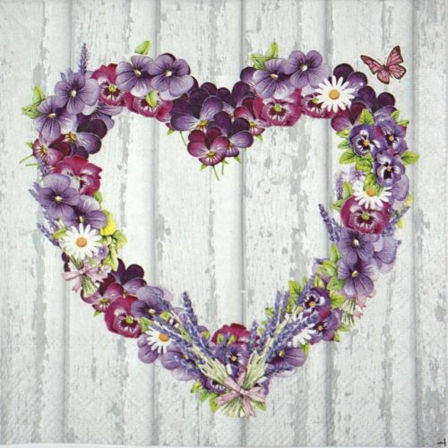 Lunch Napkins (20) - Purple Heart