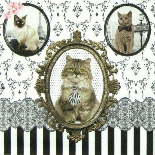 Paper Napkin - Barocco Cats
