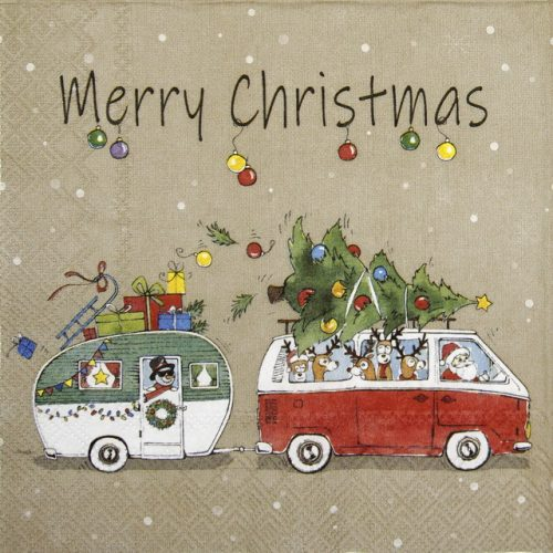 Paper Napkin - Christmas Camping