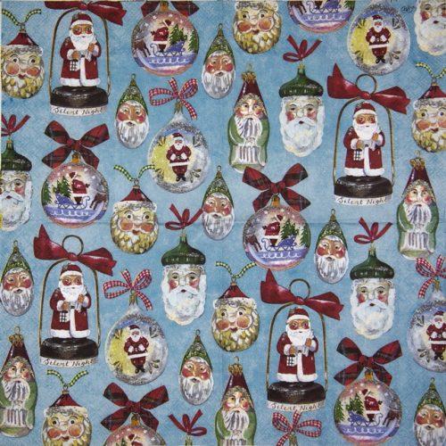 Paper Napkin - Christmas Decoration blue