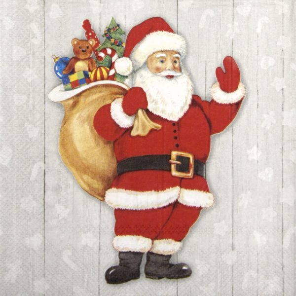 "Paper Napkin - Whimsical ""Santa"""