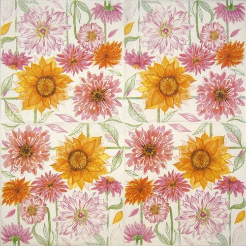 Lunch Napkins (20) - Drawn Garden Flowers
