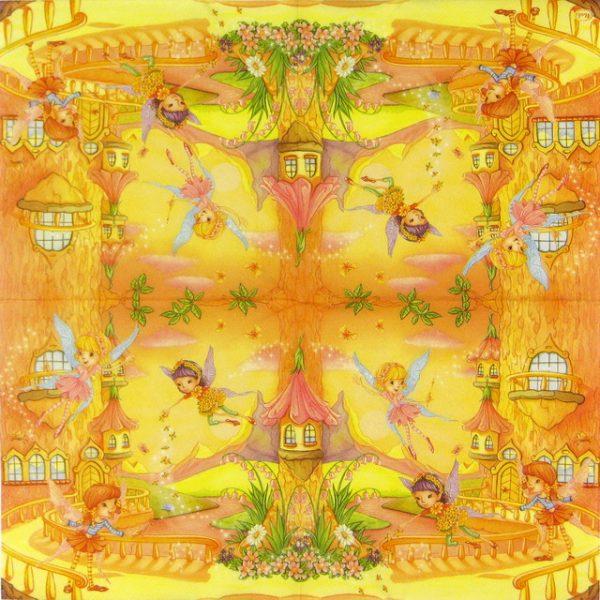 Paper Napkin - Three Fairies