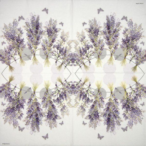 Lunch Napkins (20) - Nigel Quiney: Hanging Lavender