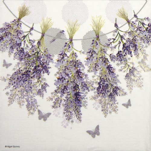 Lunch Napkins (20) - Nigel Quiney: Hanging Lavender