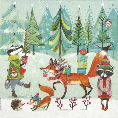 Lunch Napkins (20) - Mila Marquis: Festive Animals