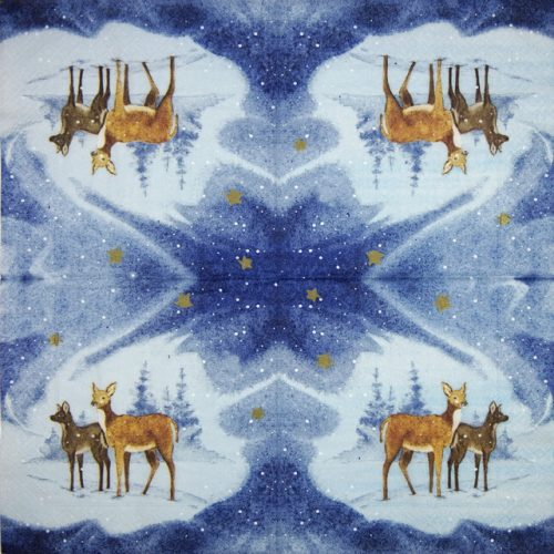 Lunch Napkins (20) - Blue Deers