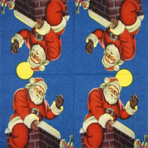 Paper Napkin - Chimney Santa