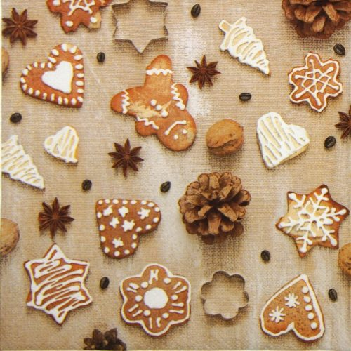 Lunch Napkins (20) - Christmas cookies