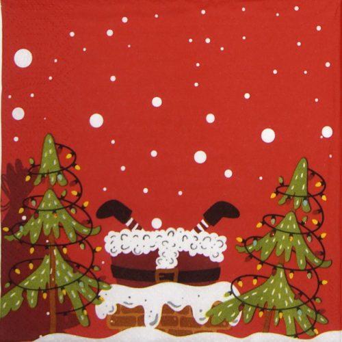 Paper Napkin - Mood of Santas