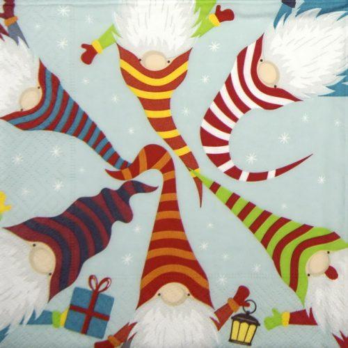 Paper Napkin - Nordic Santas