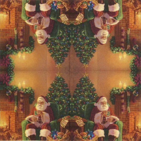 Cocktail Napkins (20) - Santa at Home