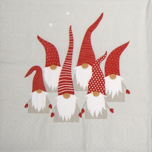 Paper Napkin - Scandic Santas