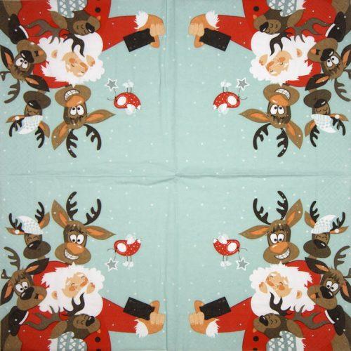 Paper Napkin - Selfie Santa