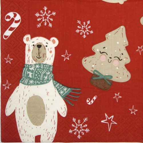 Paper Napkin - Two Polar Bears