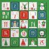 Lunch Napkins (20) -  Advent Calendar Green