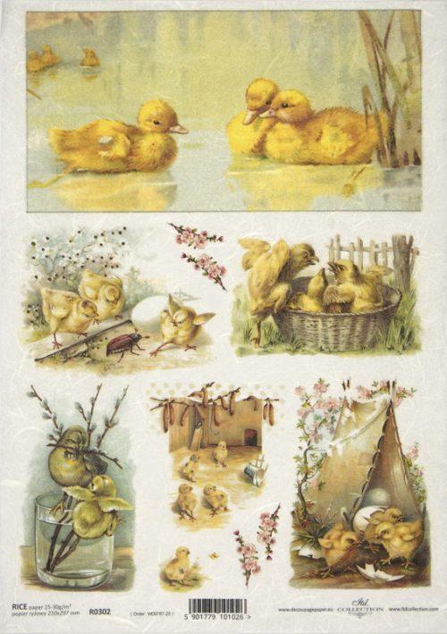 Rice Paper -  Easter Ducklings