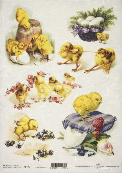 Rice Paper - Chicken and Flowers
