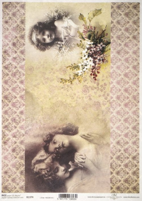 Rice Paper - Vintage Girl Faces