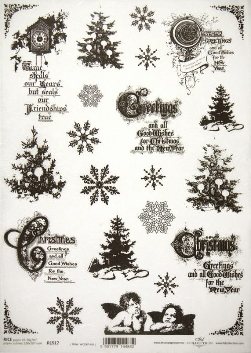 Rice Paper - Christmas Calligraphy