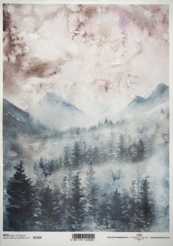 Rice Paper - Watercolour Scene