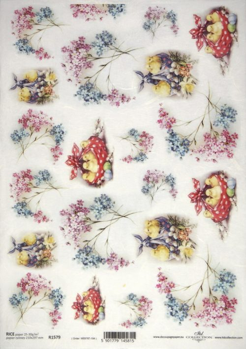 Rice Paper - Easter Forget Me Not