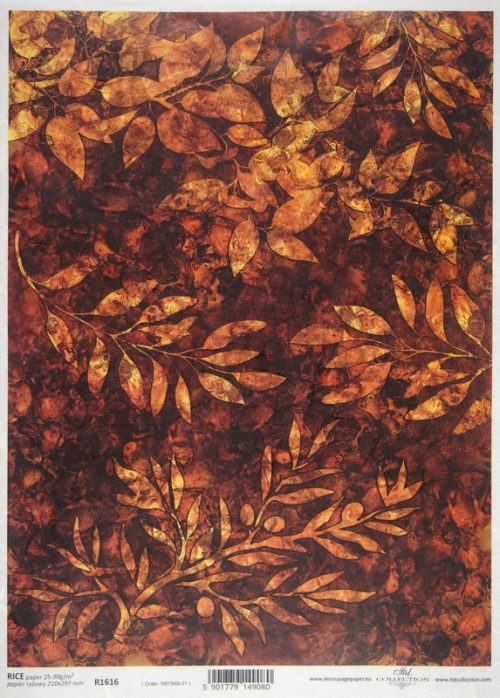 Rice Paper - Rusty Leaves