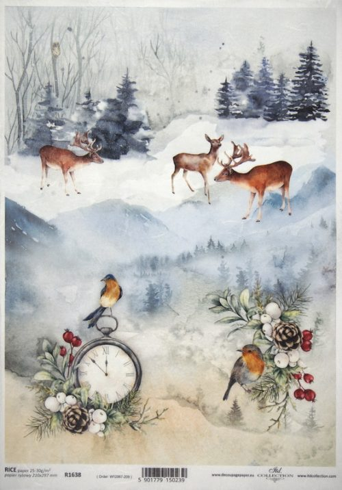 Rice Paper A/3 - Winter Time