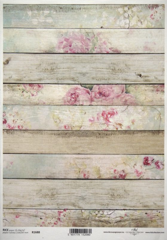 Rice Paper A/3 - Floral Wood