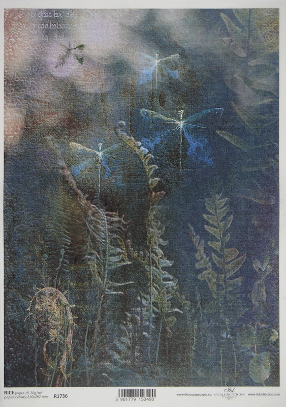 Rice Paper A/3 - Dragonfly Forest